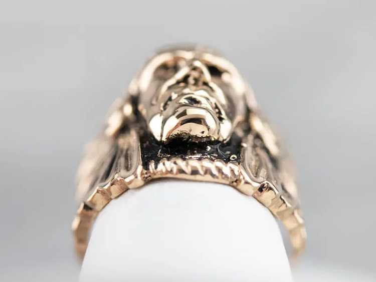 Native American Chief Statement Ring - image 7