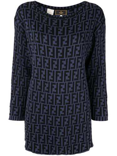 Fendi Pre-Owned Zucca pattern knitted top - Black