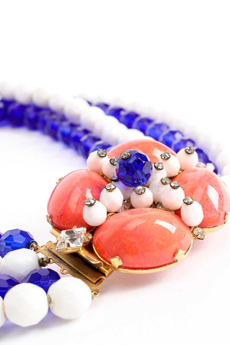ARNOLD SCAASI Multi-Strand Cabochon Bead Collar - image 7