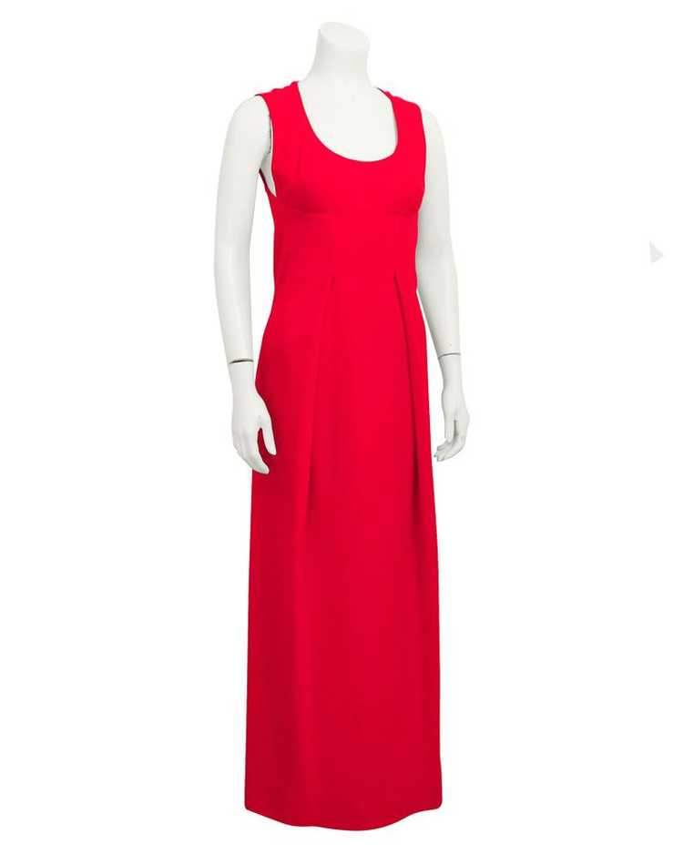 Pauline Trigere Red gown & coat ensemble - image 1