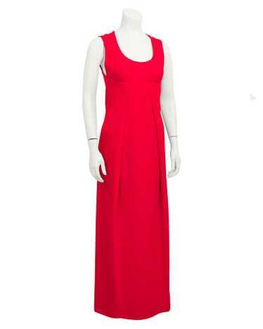 Pauline Trigere Red gown & coat ensemble