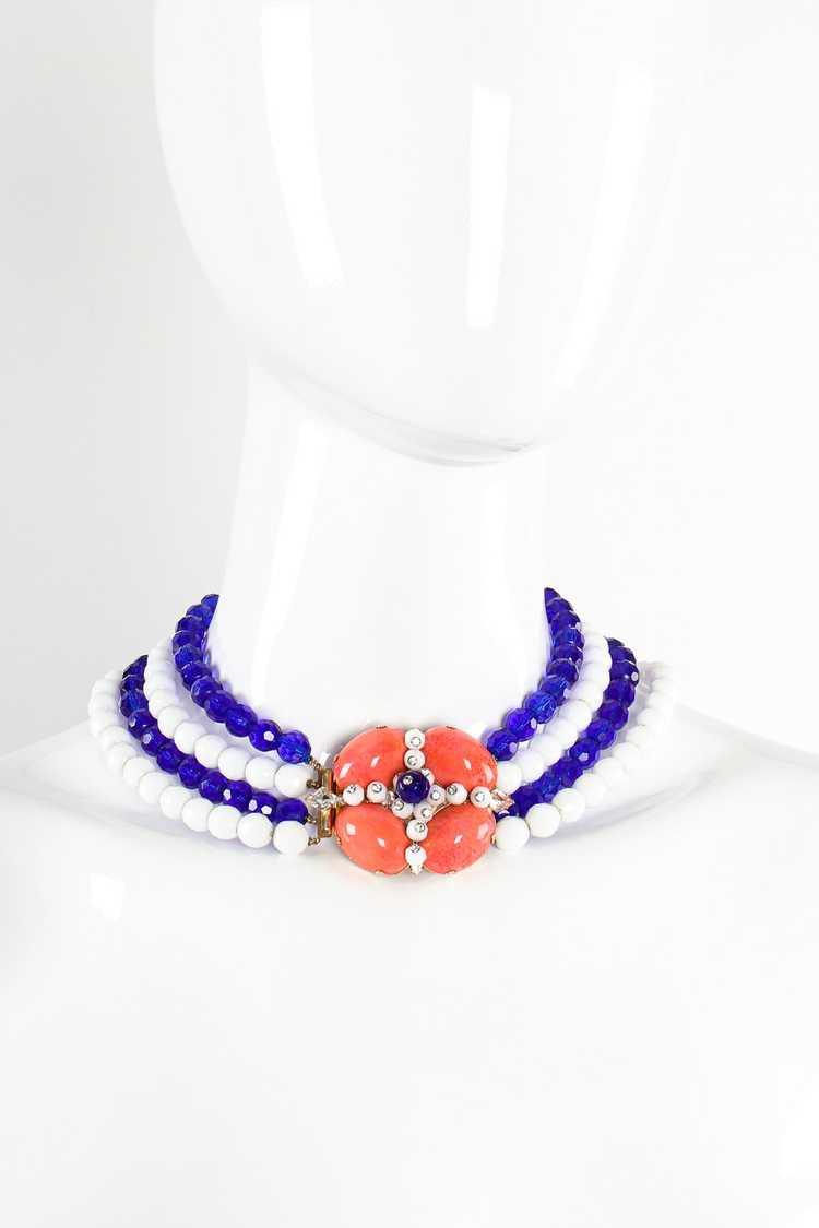 ARNOLD SCAASI Multi-Strand Cabochon Bead Collar - image 3