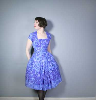 50s SAMBO FASHIONS SUN DRESS AND BOLERO IN BLUE AN