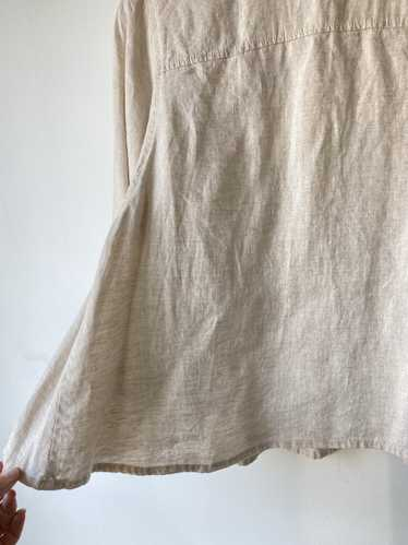 Oatmeal Linen Top with Pockets
