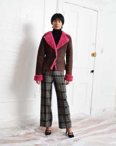 Vintage Pink Shearling Jacket