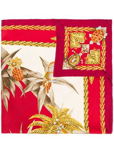 Cartier 1990s pre-owned tropical-print scarf - Red