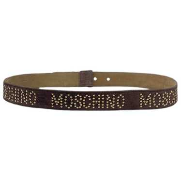 Moschino Brown Leather belt for Women L Internatio