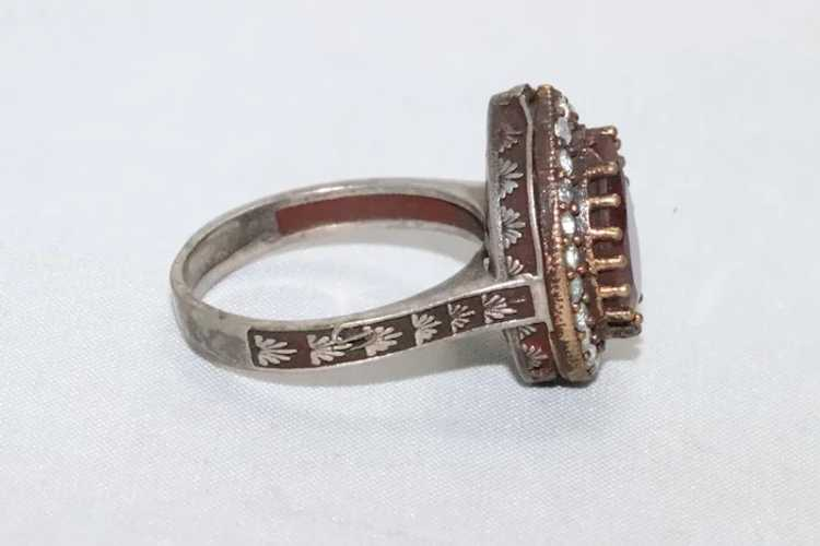 Sterling Silver Ruby Ring - image 2