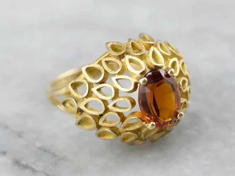 Funky Citrine Statement Ring - image 2