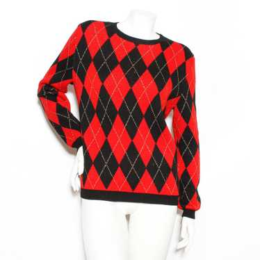 Saint Laurent Argyle Sweater