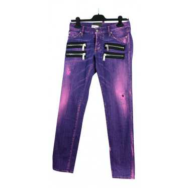 Dsquared2 Purple Cotton Jeans for Women 34 FR
