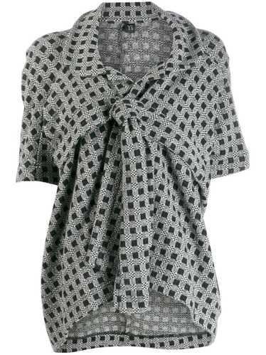 Yohji Yamamoto Pre-Owned patterned knot detail jac