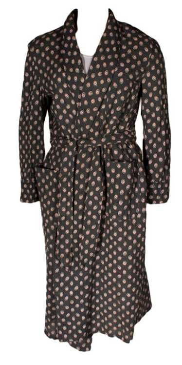Seersucker Deco Print Vintage Robe