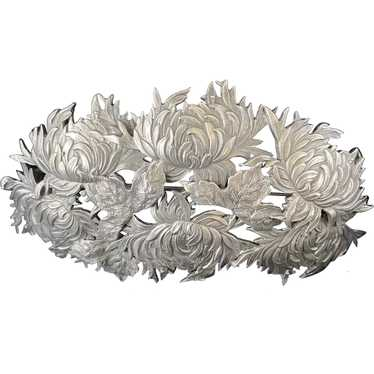 Shiebler Sterling Chrysanthemum Brooch