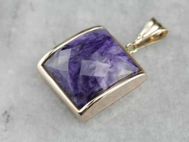 Funky Faceted Charoite Pendant