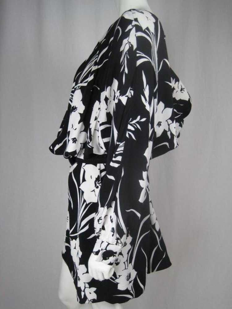 1980's Dress Graphic Floral Vintage - image 2