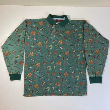 Bank Size 8 Medium Small Padded Shoulders Vintage 1980s PAISELY Pattern Blouse Joseph A