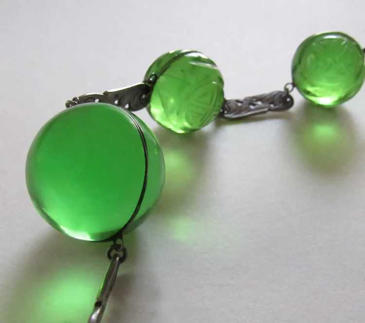 Antique Pools of Light Sterling Silver Necklace S… - image 2