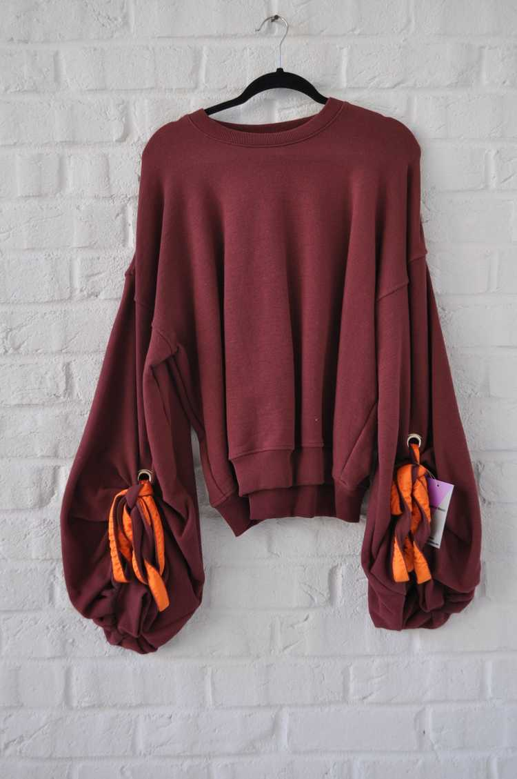 Y/ Project sweater with puffy sleeves - image 1