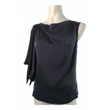 Vivienne Westwood Anglomania Navy Silk top for Wom
