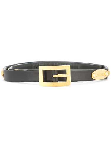 Chanel Pre-Owned 1996 buckle belt - Black