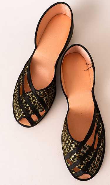 Sexy 1940s-50s Boudoir Slippers Unworn!