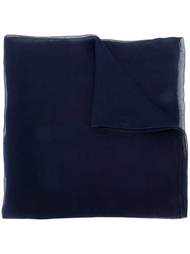 Jil Sander Pre-Owned 1990's silk foulard - Blue