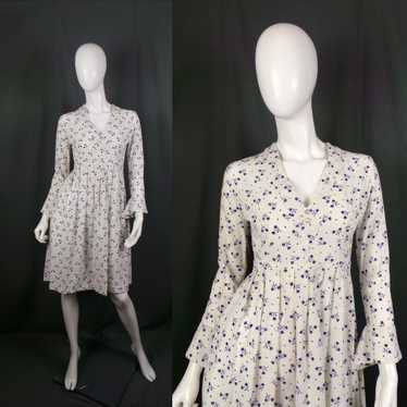 1960s Laura Ashley Wales Label White Cotton Pointe