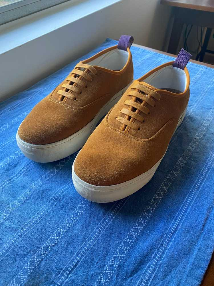 Eytys Eytys Mother Suede Camel Sneakers - image 1