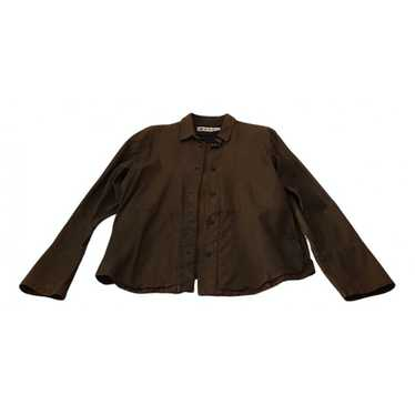 Marni Brown Leather jacket for Men 50 IT