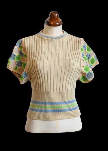 Vintage 1970s Wenjilli Knit Top
