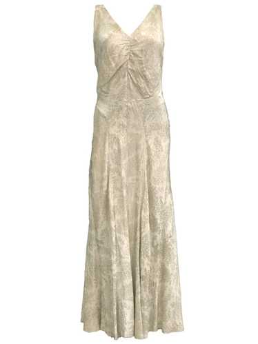 30s Gold Lame Gown with Full Length Slip