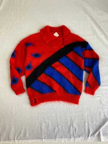 Vintage 1980s Hand knit Mohair sweater