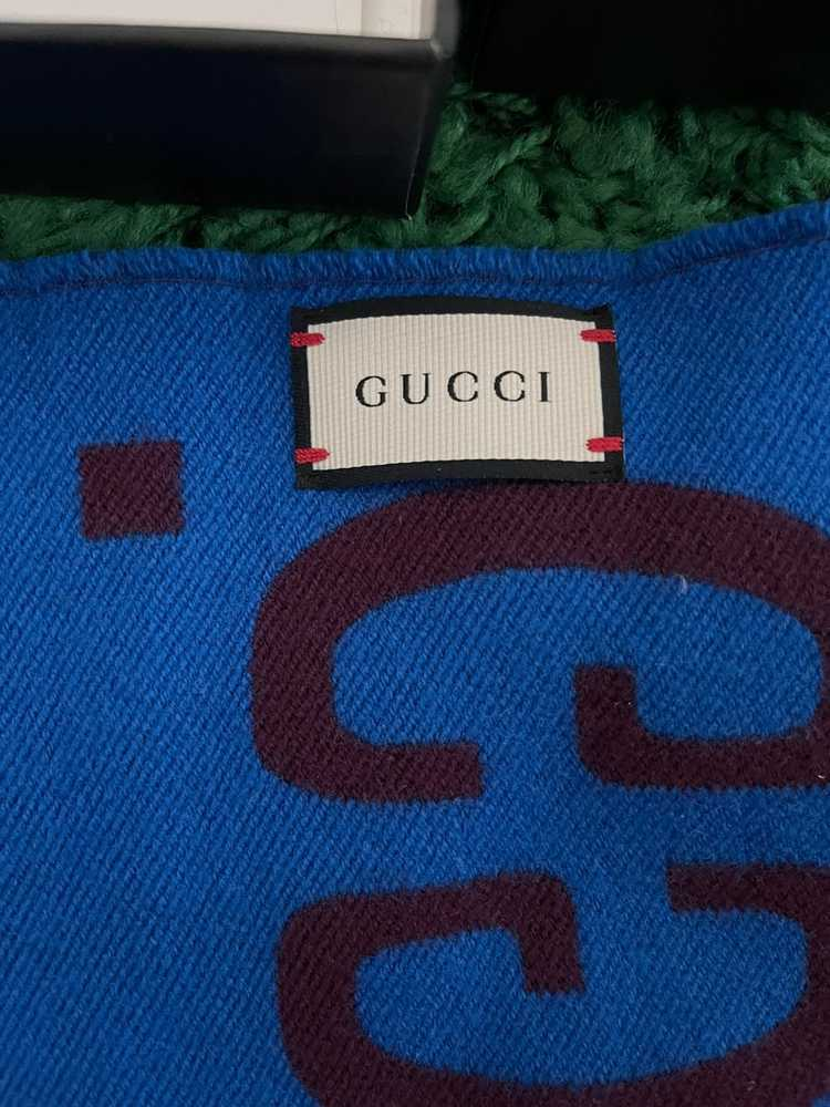 Gucci Gucci GG jacquard wool silk scarf - image 2