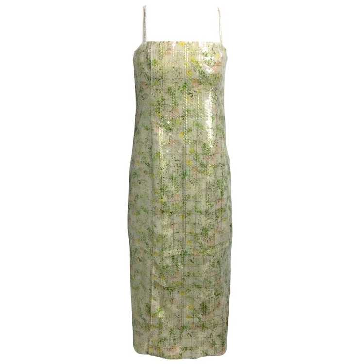 BY. Bonnie Young Green Sequined Sleeveless Formal… - image 1