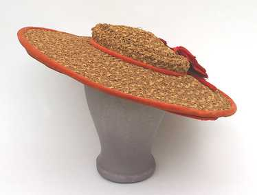 Wide-brim straw hat, c.1940