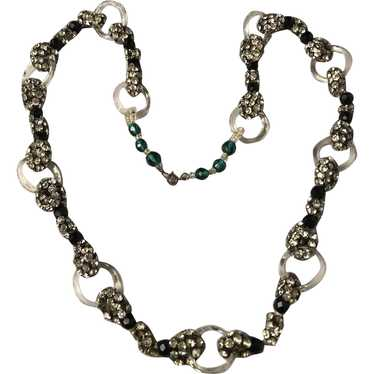 1930's French Glass Necklace