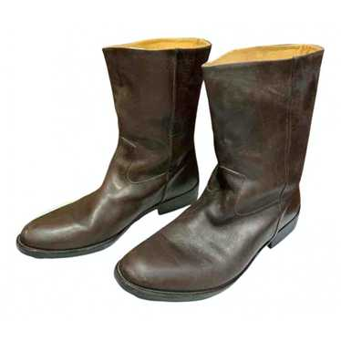 Maison Martin Margiela Brown Leather Boots for Men