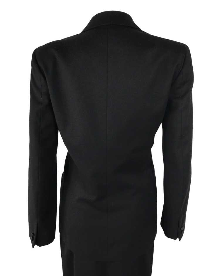 Gucci 1970s Black Smoking Two Piece Suit - image 7