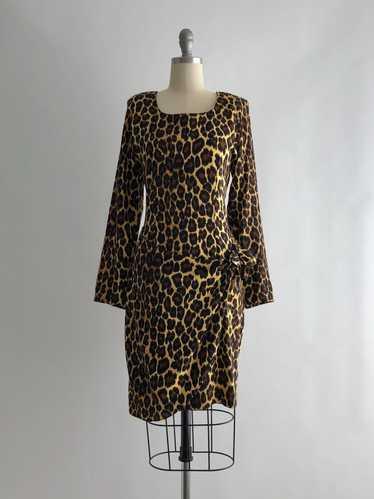 Vintage 90s Leopard Print Dress