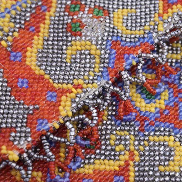 Vintage 20s Beaded Carpet Bag - image 3