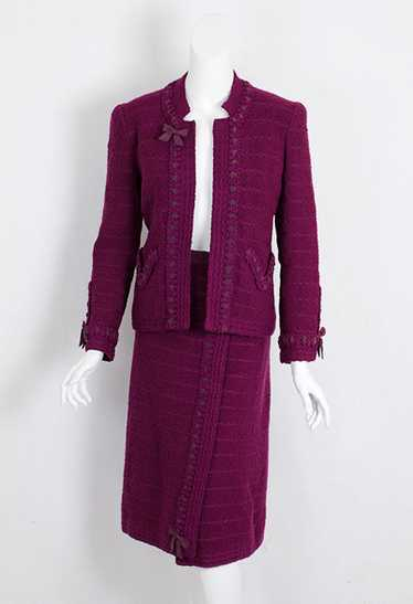 Adolfo wool knit suit, 1970s