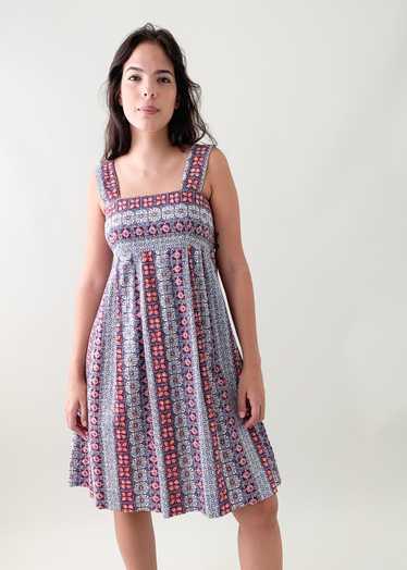 Vintage Batik Print Sundress