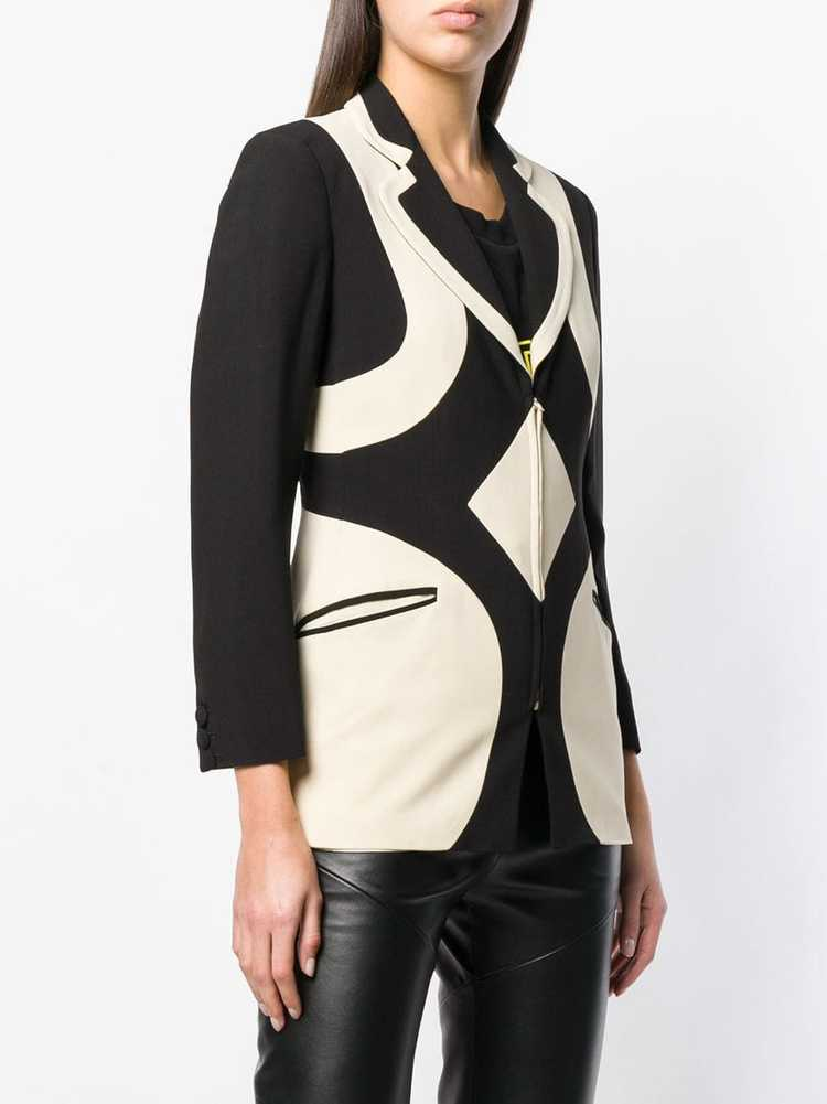 Moschino Pre-Owned 1990's graphic pattern blazer … - image 3