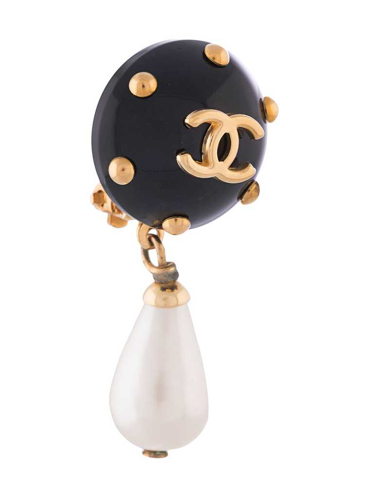 Chanel Pre-Owned 1996 CC pearl-embellished earrin… - image 3
