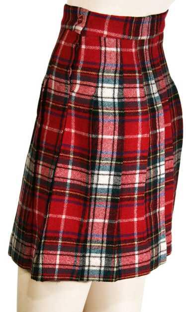 Thirties Wool Plaid Collegiate Skirt