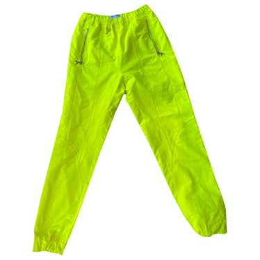 Marine Serre Yellow Trousers for Women S Internati