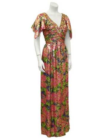 Pink Moroccan Brocade Gown