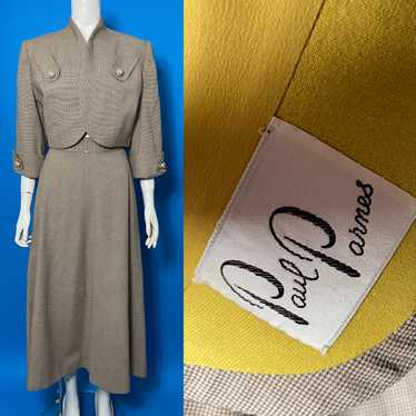 1940s suit with cropped jacket
