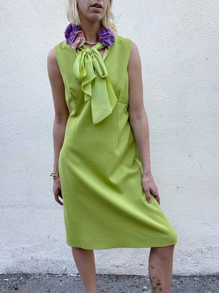 Vintage Moschino Chartreuse Dress - image 2